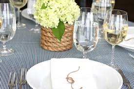 Nautical Table Settings End Of Summer Party Julie Blanner Entertaining Home Design