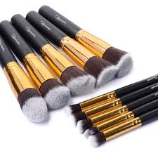 amazon 10 pcs professional makeup set pro kits brushes makeup cosmetics brush tool gold beauty