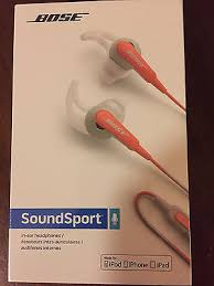 bose headphones sport box. new in sealed box bose soundsport in-ear headphones ios models orange | what\u0027s it worth sport s