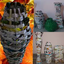 Flower Vase With Paper Flower Vase In Magazine Paper 6 Steps With Pictures