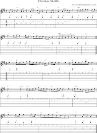 cherokee sheet music folk and traditional music sheet music guitar tab mp3 audio midi