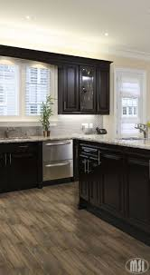 cabinet and lighting. moon white granite dark kitchen cabinets and light wood flooring cabinet lighting