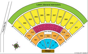 Toyota Amphitheater Detailed Seating Chart 64 Described Cruzan Amp Seating Chart