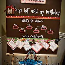 the birthday countdown board paper craft ideas
