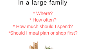 Family Meal Plans Weekly Meal Prep Large Family