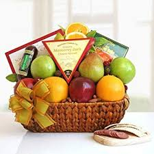 fruit cheese and salami gift basket