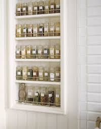 Build-in Spice Rack on the wall .
