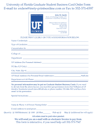 Uf Student Business Cards Fill Online Printable Fillable
