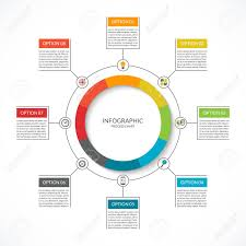 Infographic Cycle Diagram Process Chart With 8 Options Vector