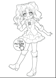 Coloring Pages Of A Boy As Wolf Printable Kawaii Chibi Book