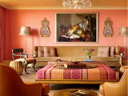 Interior:Cute Moroccan Living Room Interior Design With Pink Wall Color And  Sophisticated Sofa Idea