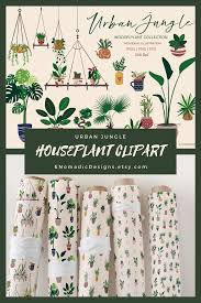 Hand Drawn Botanical Plant Clipart,Indoor Plants Hangers Pots Digital  Illustration,PNG,Greenery Planner Stickers Instant Download | How to draw  hands, Plant clips, Clip art