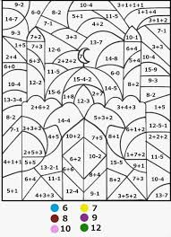 Coloring Pages Math Color By Number 4th Grade Spring Worksheets