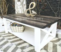 rustic coffee table white farmhouse weathered off