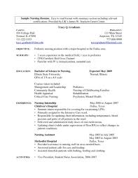 Medical Field Resume Examples Career Objective Statement Cv Writing