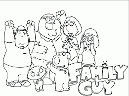 Small Picture Cartoon Family Guy Coloring Pages Cartoon Coloring pages of
