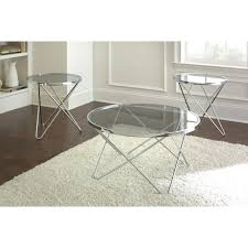 glass silver coffee table