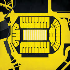 Kinnick Stadium Map Art