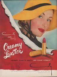 1949 coty lipstick ad creamy lipstick