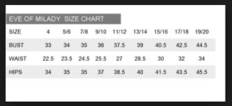 Marisa Bridal Size Chart Eve Of Milady New Size 4