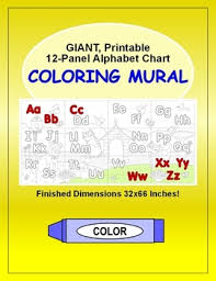 Alphabet Chart Printable 12 Panel Abc Letters Coloring Wall Mural