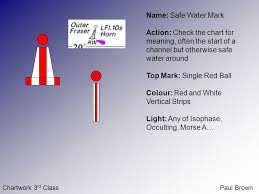 Safe Water Mark On Chart Chartwork 3 Rd Classpaul Brown Chartwork 3 Rd Class Buoyage