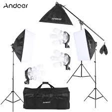 lighting set. Andoer Studio Photo Video Lighting Kit With 12*45W Bulb/3*4in1 Bulb Set