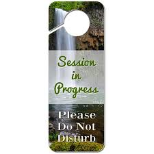 Session In Progress Please Do Not Disturb Single Waterfall Plastic