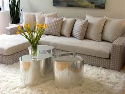 flokati rug in living room