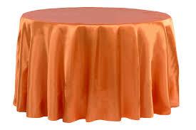 satin 120 round tablecloth burnt orange