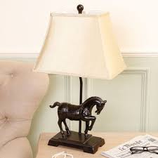 Antique Style Equestrian Table Lamp