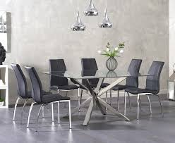 madison 90cm clear glass dining table with cavello ivory white chairs. close zoomed image. rio square glass dining table with cavello chairs. madison 90cm clear ivory white chairs