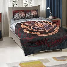 details about harry potter hogwarts school motto twin full comforter 2 pillow shams bedding