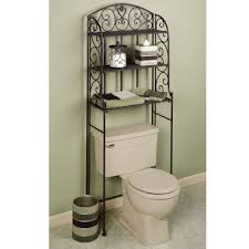 Black Over The Toilet Cabinet Barbaralclarkcom Page 5 Simple White Bathroom With Oval