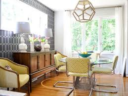 mid century modern dining rooms. yellow and gray midcentury modern dining room mid century rooms o