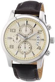 guess men s watch xl analogue rubber quartz w0366g1 amazon co uk guess men s watch quartz chronograph xl leather exec w0076g2