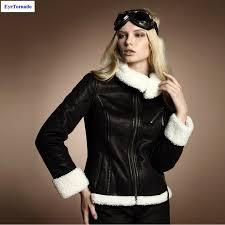 women coat lamb cashmere patchwork short suede leather jacket winter casual work motorcycle biker er jacket