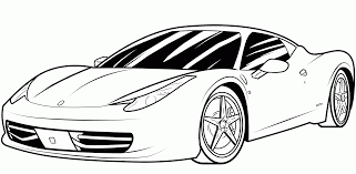 Coloring Pages For Boys Cars Ferrari