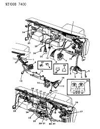 1993 dodge shadow wiring instrument panel