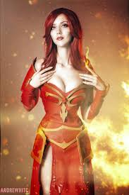 dota 2 lina crystal maiden by tanya lil cosplay