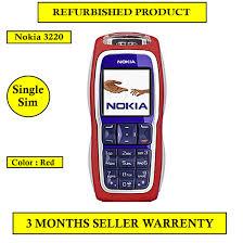 Refurbished Nokia 3220 Mobile Phone Red ...