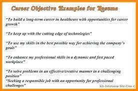 Career Goals Examples Stunning Career Goals Resume With Career Goals Example For Resumes
