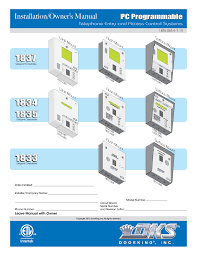 DoorKing 1833 PC Programmable User Manual   70 pages   Also for ...