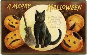 vintage halloween black cat. Interesting Cat Vintage Halloween Cat Image For Black H