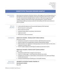 Substitute Teacher Resume Substitute Teacher Resume Resume