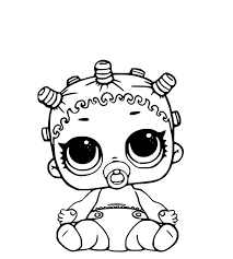 Lol Surprise Dolls Coloring Pages Lol Lil Cosmic Queen Best Free