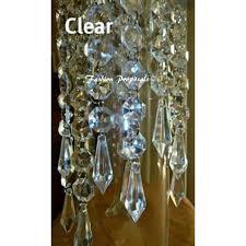 100 hanging crystals acrylic chandelier prism wedding decorations 100 pcs hanging chandelier acrylic crystals hanging garlands