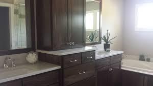 Poplar For Cabinets Double Vanity Sink Poplar Wood Sw Black Walnut Stain Granite