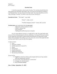 narrative essay doc