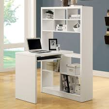 ... Friedrich Desk with Tall Bookcase - White - MNRH-I-7022